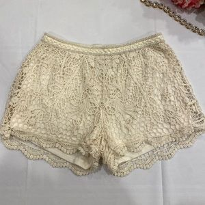 Never worn white lace shorts